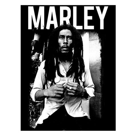 Bob Marley Marley Black And White Sticker