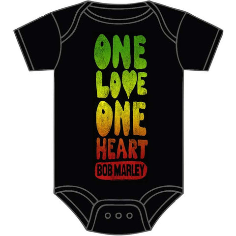 Bob Marley One Love One Heart One-Piece Bodysuit