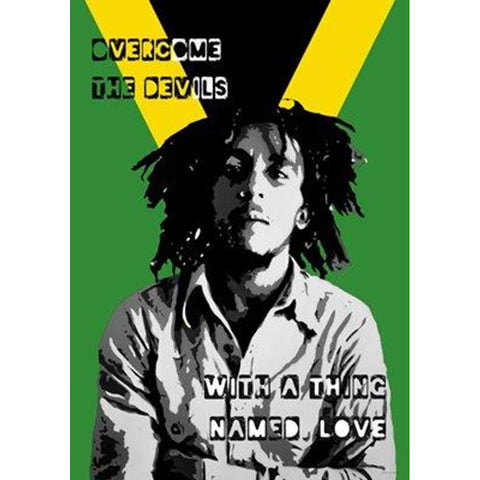 Bob Marley Overcome the Devils Wall Poster