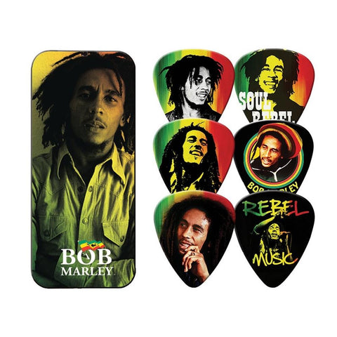 Bob Marley Rasta 6 Pack Guitar Pick Tin