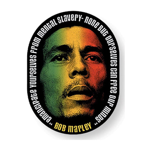 Bob Marley Rasta Color Face Sticker