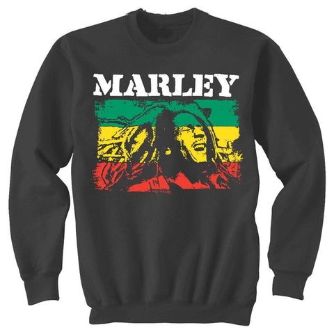 Bob Marley Rasta Stripe Men's Sweatshirt