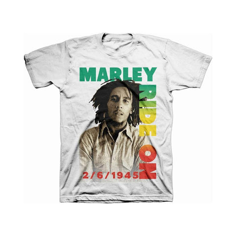 Bob Marley Ride On Pose Men's T-Shirt