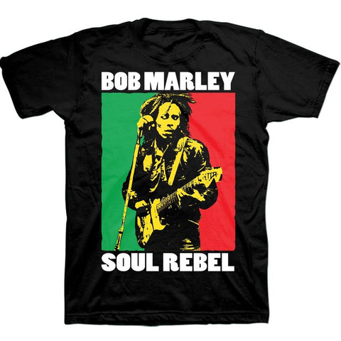 Bob Marley Soul Rebel Block Men's T-Shirt