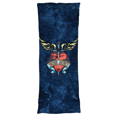 Bon Jovi Special Order Weathered Denim Body Pillow - 100% Microfiber (printed both sides)