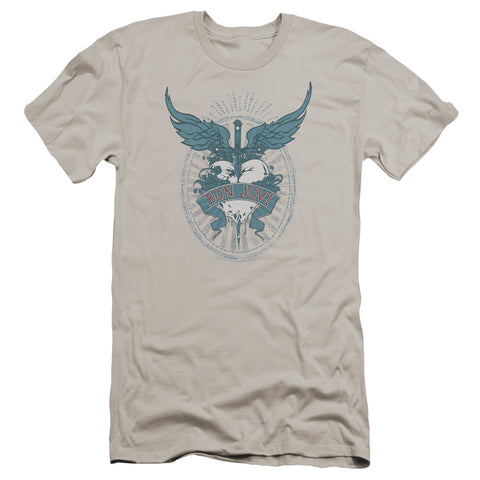 Bon Jovi Special Order Winged Heart Men's Premium Ultra-Soft 30/1 100% Cotton Slim Fit T-Shirt - Eco-Friendly - Made In The USA