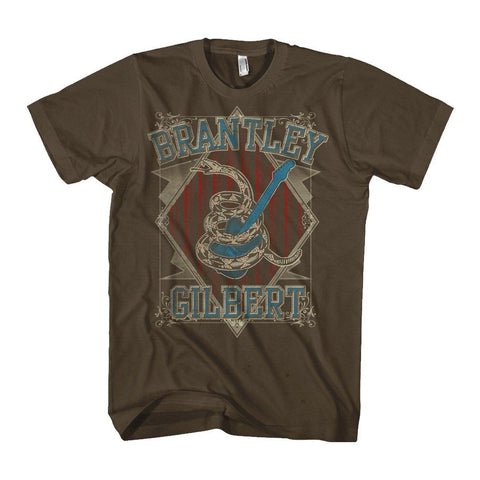 Brantley Gilbert Snake Coil Men's T-Shirt