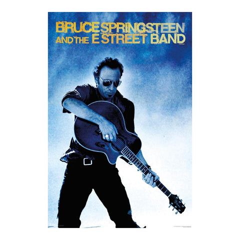 Bruce Springsteen And The E Street Band Guitar Poster
