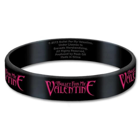 Bullet For My Valentine Logo Wrist Band