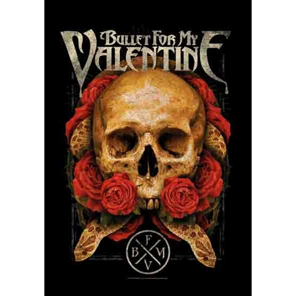 Bullet For My Valentine Serpent Roses Fabric Poster Rockmerch