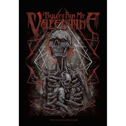 Bullet for my Valentine Skeleton Mom and Infant Fabric Poster