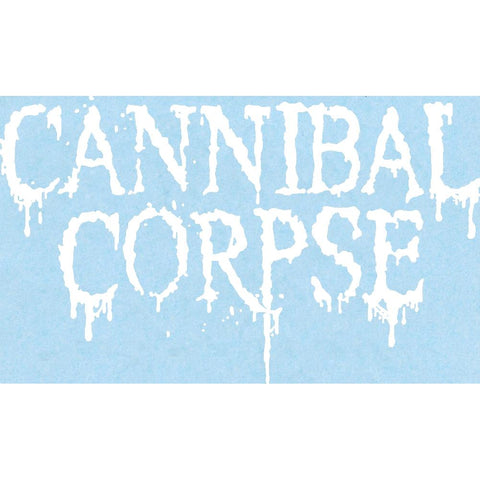 Cannibal Corpse Logo Rub-On Sticker - White