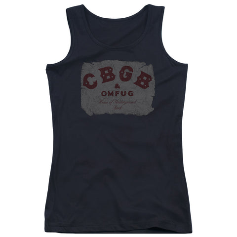 CBGB Special Order Crumbled Logo Junior's 100% Cotton Tank Top
