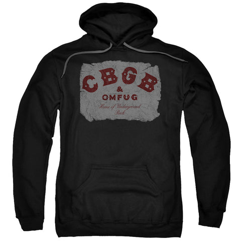 CBGB Special Order Crumbled Logo Men's Pull-Over 75% Cotton 25% Poly Hoodie
