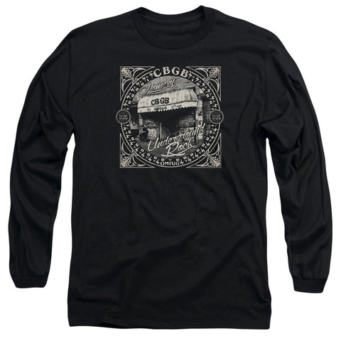 CBGB Special Order Front Door Men's 18/1 Long Sleeve 100% Cotton T-Shirt