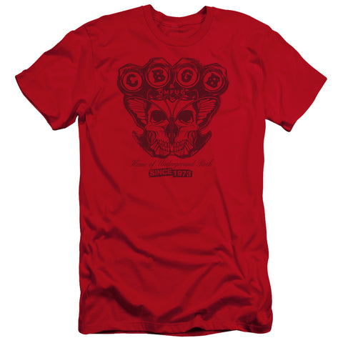 CBGB Special Order Moth Skull Men's Premium Ultra-Soft 30/1 100% Cotton Slim Fit T-Shirt - Eco-Friendly - Made In The USA