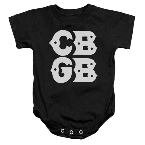 CBGB Special Order Stacked Logo Infant's 100% Cotton Short-Sleeve Snapsuit