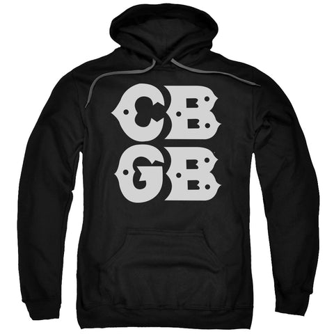 CBGB Special Order Stacked Logo Men's Pull-Over 75% Cotton 25% Poly Hoodie