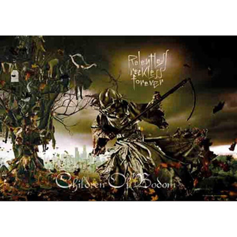 Children Of Bodom Reckless Forever Fabric Poster