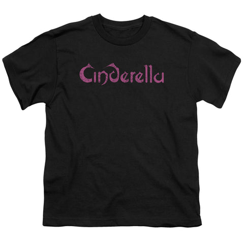 Cinderella Special Order Logo Rough Youth 18/1 100% Cotton Short-Sleeve T-Shirt