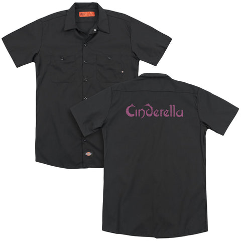 Cinderella Special Order Logo Rough(Back Print) Men's 35% Cotton 65% Poly Short-Sleeve Work Shirt