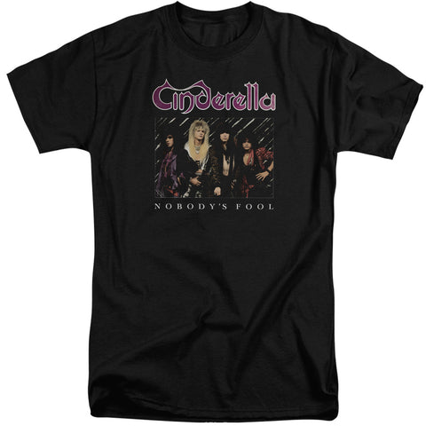 Cinderella Special Order Nobody's Fool Men's 18/1 Tall 100% Cotton Short-Sleeve T-Shirt
