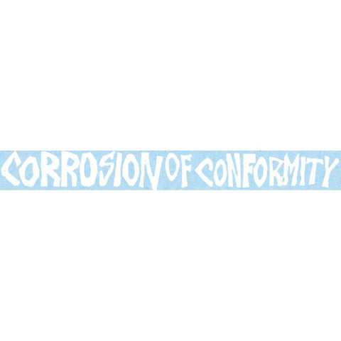 Corrosion of Conformity Logo Rub-On Sticker - White
