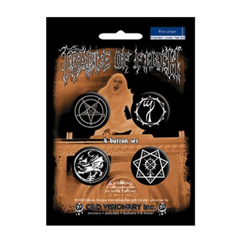 Cradle of Filth Assorted Button Set