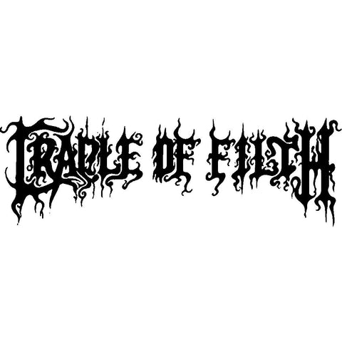 Cradle of Filth Logo Rub-On Sticker - Black