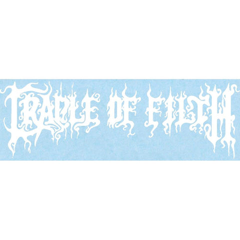 Cradle of Filth Logo Rub-On Sticker - White