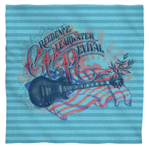 Creedence Clearwater Revival Americana Polyester Bandana