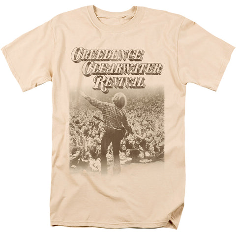 Creedence Clearwater Revival Born To Move Men's 18/1 Cotton SS T