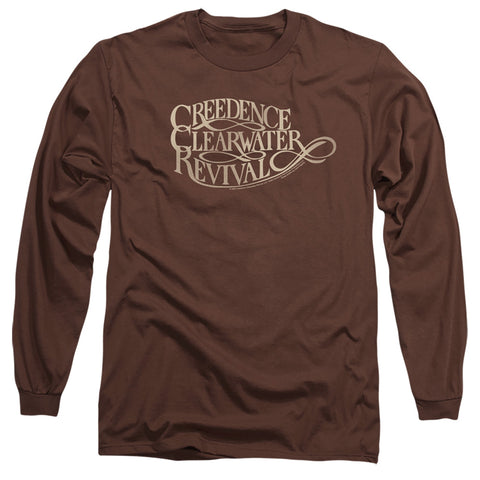 Creedence Clearwater Revival Ccr Logo Men's 18/1 Cotton LS T