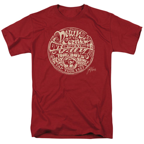 Creedence Clearwater Revival Down On The Corner Men's 18/1 Cotton SS T
