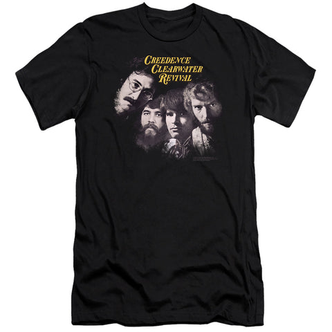 Creedence Clearwater Revival Pendulum Faces Men's 30/1 Cotton Slim SS T