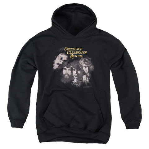 Creedence Clearwater Revival Pendulum Faces Youth Cotton Poly Pull-Over Hoodie