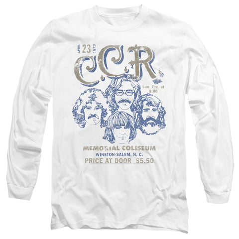 Creedence Clearwater Revivial Sketch Poster Men's 18/1 Cotton LS T
