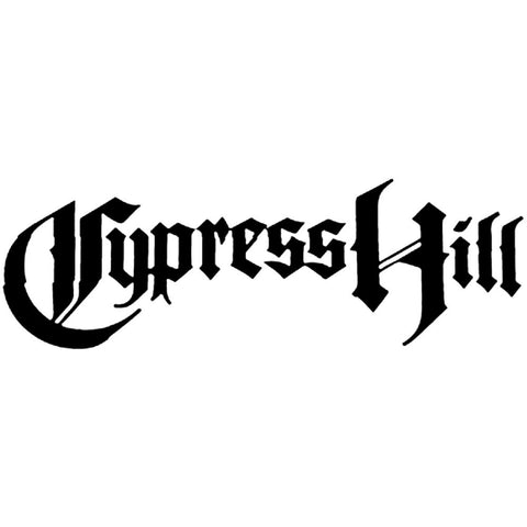 Cypress Hill Logo Rub-On Sticker - Black