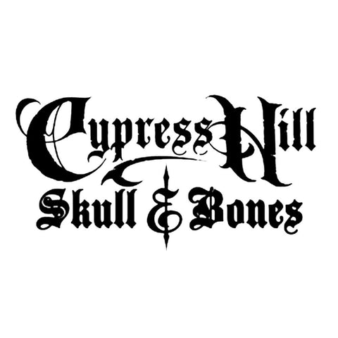 Cypress Hill Skull And Bones Logo Rub-On Sticker - Black