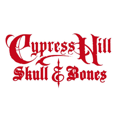 Cypress Hill Skull And Bones Logo Rub-On Sticker - Red