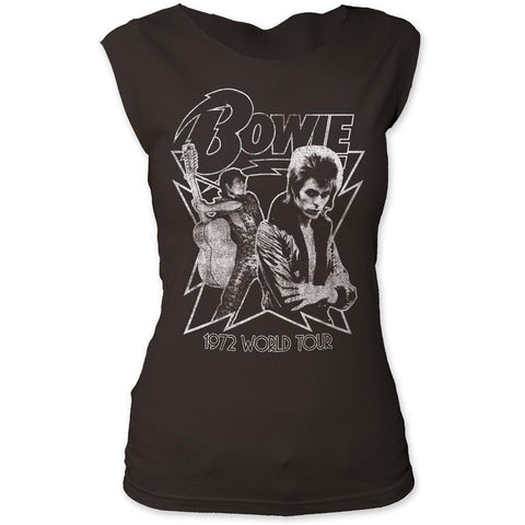 David Bowie 1972 World Tour Women's Tapered T-Shirt