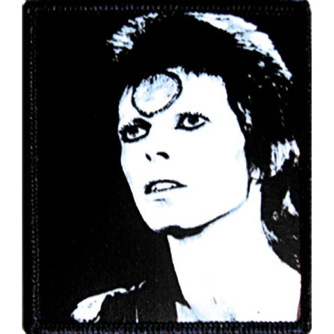David Bowie Black and White Patch