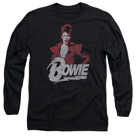 David Bowie Special Order Diamond David Men's 18/1 Long Sleeve 100% Cotton T-Shirt