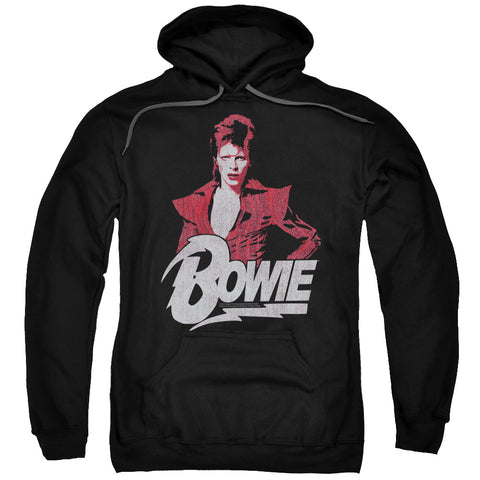 David Bowie Special Order Diamond David Men's Pull-Over 75% Cotton 25% Poly Hoodie