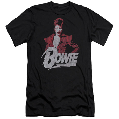 David Bowie Special Order Diamond David Men's Premium Ultra-Soft 30/1 100% Cotton Slim Fit T-Shirt - Eco-Friendly - Made In The USA
