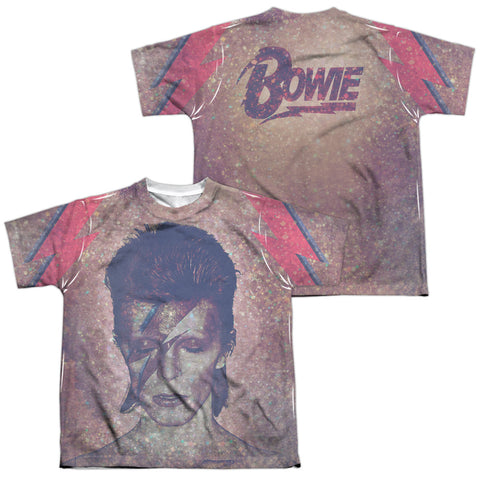 David Bowie Special Order Glam (Front/Back Print) Youth Regular Fit 100% Polyester Short-Sleeve T-Shirt