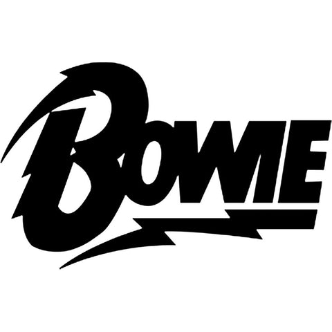 David Bowie Lightening Logo Rub-On Sticker - Black