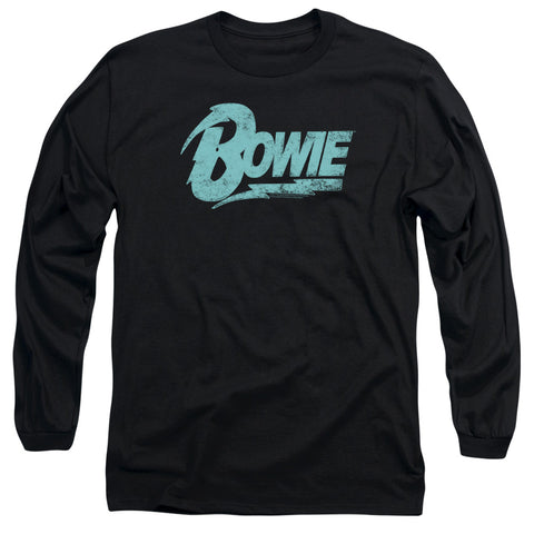 David Bowie Special Order Logo Men's 18/1 Long Sleeve 100% Cotton T-Shirt