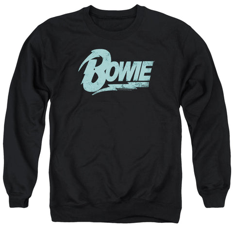 David Bowie Special Order Logo Men's Crewneck 50% Cotton 50% Poly Long-Sleeve Sweatshirt