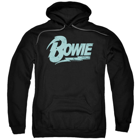 David Bowie Special Order Logo Men's Pull-Over 75% Cotton 25% Poly Hoodie